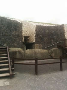 Newgrange entrance - not the original steps