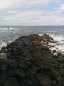 Giants Causeway stretching into the sea